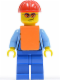 Minifig No: cty0157  Name: Lumberjack with Orange Vest