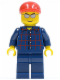 Minifig No: cty0163  Name: Plaid Button Shirt, Dark Blue Legs, Red Short Bill Cap, Silver Sunglasses