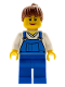 Minifig No: cty0171  Name: Farm Hand, Female, Overalls Blue over V-Neck Shirt