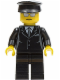 Minifig No: cty0172  Name: Suit Black, Black Hat, Silver Sunglasses - Airport Limo Driver