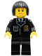 Minifig No: cty0211  Name: Police - City Suit with Blue Tie and Badge, Black Legs, Black Bob Cut Hair