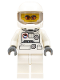 Minifig No: cty0223  Name: Spacesuit, White Legs, Space Helmet, Orange Sunglasses