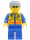 Minifig No: cty0243  Name: Coast Guard City - Kayaker, without Life Jacket