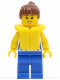 Minifig No: cty0249  Name: Shirt with Female Rainbow Stars Pattern, Blue Legs, Reddish Brown Ponytail Hair, Life Jacket
