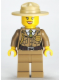 Minifig No: cty0263  Name: Forest Police - Dark Tan Jacket with Pockets, Gold Badge and Braid, Olive Green Tie, Dark Tan Legs, Campaign Hat