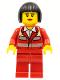 Minifig No: cty0271  Name: Paramedic - Red Uniform, Female, Black Bob Cut Hair