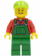 Minifig No: cty0296  Name: Overalls Farmer Green, Lime Short Bill Cap