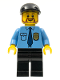 Minifig No: cty0316  Name: Police - City Shirt with Dark Blue Tie and Gold Badge, Black Legs, Black Short Bill Cap, Brown Beard Rounded