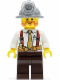 Minifig No: cty0322  Name: Miner - Shirt with Tie and Suspenders, Mining Helmet, Beard
