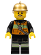 Minifig No: cty0345  Name: Fire Chief - Reflective Stripes with Pockets and Shoulder Strap, Gold Fire Helmet