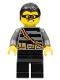 Minifig No: cty0363  Name: Police - City Burglar, Black Hair, Mask
