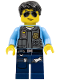 Minifig No: cty0376  Name: Police - LEGO City Undercover Elite Police Officer 5