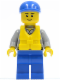 Minifig No: cty0408  Name: Coast Guard City - Crew Member, Blue Cap