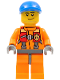 Minifig No: cty0409  Name: Coast Guard City - Rescuer, Orange Jacket