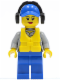 Minifig No: cty0410  Name: Coast Guard City - Crew Member Female, Blue Cap with Hole, Headphones