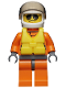 Minifig No: cty0417  Name: Coast Guard City - Helicopter Pilot, Life Jacket
