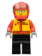 Minifig No: cty0423  Name: Stunt Pilot, Airborne Spoilers