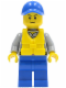Minifig No: cty0424  Name: Coast Guard City - Crew Member, Blue Cap with Hole