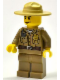 Minifig No: cty0425  Name: Forest Police - Dark Tan Shirt with Pockets, Radio and Gold Badge, Dark Tan Legs, Campaign Hat, Angry Eyebrows and Scowl