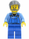 Minifig No: cty0430  Name: Overalls with Tools in Pocket, Dark Bluish Gray Smooth Hair