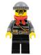 Minifig No: cty0433  Name: Police - City Burglar, Dark Bluish Gray Knit Cap, Red Bandana, Mask