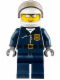 Minifig No: cty0449  Name: Police - City Motorcycle Officer, Silver Sunglasses