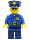 Minifig No: cty0450  Name: Police - City Officer, Gold Badge, Police Hat, Sunglasses