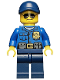 Minifig No: cty0465  Name: Police - City Officer, Gold Badge, Dark Blue Cap with Hole, Sunglasses