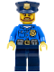Minifig No: cty0477  Name: Police - City Officer, Gold Badge, Police Hat, Beard