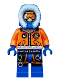 Minifig No: cty0492  Name: Arctic Explorer, Male with Orange Goggles