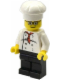 Minifig No: cty0502  Name: Chef - White Torso with 8 Buttons, Black Legs, Glasses