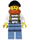 Minifig No: cty0513  Name: Swamp Police - Crook Male with Black Knit Cap and Dark Orange Beard