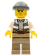 Minifig No: cty0515  Name: Swamp Police - Crook Male with Dark Bluish Gray Knit Cap