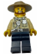 Minifig No: cty0517a  Name: Swamp Police - Officer, Shirt, Dark Tan Hat, Brown Beard