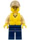 Minifig No: cty0519  Name: Swamp Police - Officer, Shirt, Dark Tan Cap, Life Jacket