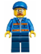 Minifig No: cty0520  Name: Snowplow Driver