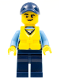 Minifig No: cty0536  Name: Police - City Officer, Life Preserver, Crooked Smile