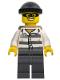 Minifig No: cty0537  Name: Police - Jail Prisoner 86753 Prison Stripes, Black Knit Cap, Backpack, Mask