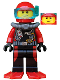 Minifig No: cty0558  Name: Scuba Diver, Male, Red Flippers