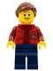 Minifig No: cty0565  Name: Deep Sea Submariner Female, Reddish Brown Hair