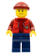 Minifig No: cty0566  Name: Deep Sea Submariner Male, Dark Red Knit Cap