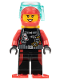 Minifig No: cty0602  Name: Scuba Diver, Female, Flippers, Yellow Airtanks