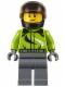 Minifig No: cty0614  Name: Motorcyclist - Ambulance Plane Passenger