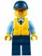 Minifig No: cty0615  Name: Police - City Officer, Life Preserver, Orange Sunglasses