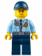 Minifig No: cty0616  Name: Police - City Officer, Jacket with Dark Blue Tie and Gold Badge, Dark Blue Legs, Dark Blue Cap