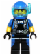 Minifig No: cty0617  Name: Scuba Diver, Male, Blue