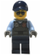 Minifig No: cty0619  Name: Police - City Officer, Sunglasses, Gray Vest with Radio and Gold Badge, Dark Blue Legs, Dark Blue Cap
