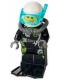 Minifig No: cty0639  Name: Fire - Scuba Diver, Black Flippers, Dark Bluish Gray Scuba Tank, White Helmet, Trans-Light Blue Scuba Mask