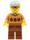 Minifig No: cty0659  Name: Grandfather - Medium Nougat Argyle Sweater, Light Bluish Gray Hair