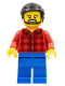 Minifig No: cty0664  Name: Flannel Shirt, Blue Legs, Black Hair, Beard